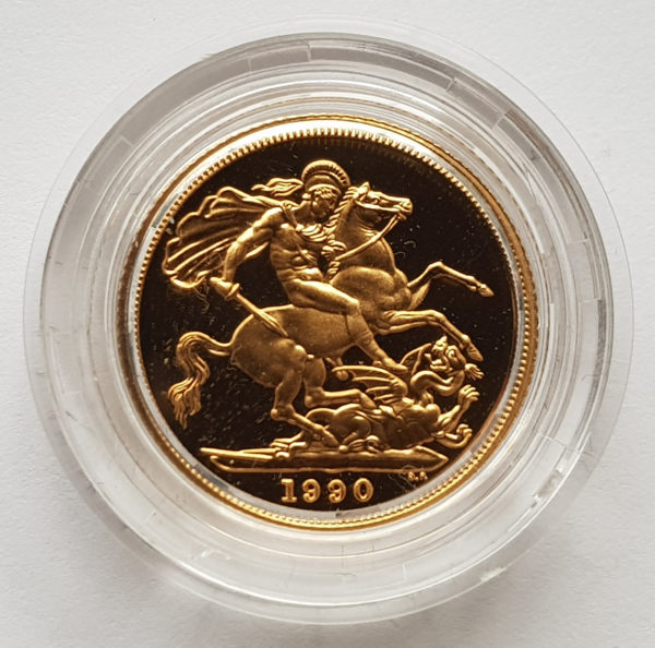 1990 Gold Proof Sovereign 1