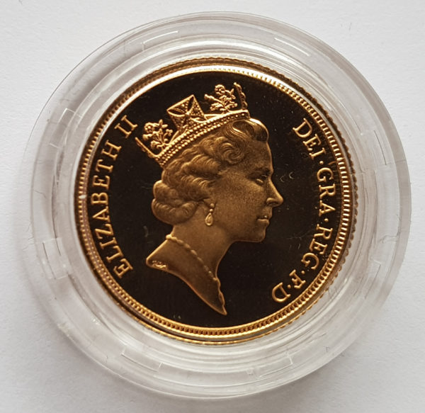 1990 Gold Proof Sovereign 2