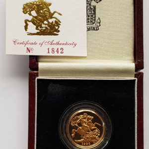 1990 Gold Proof Sovereign