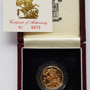 1993 Gold Proof Sovereign