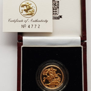 1998 Gold Proof Sovereign