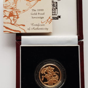 1999 Gold Proof Sovereign