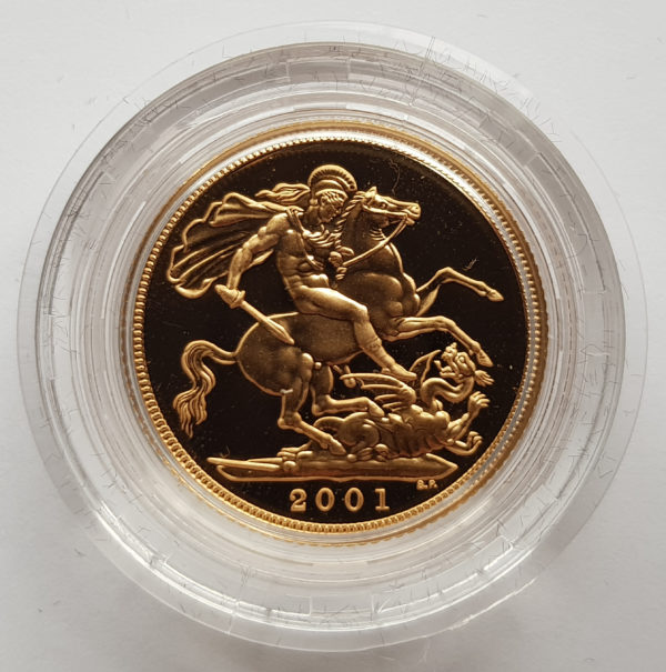 2001 Gold Proof Sovereign 1