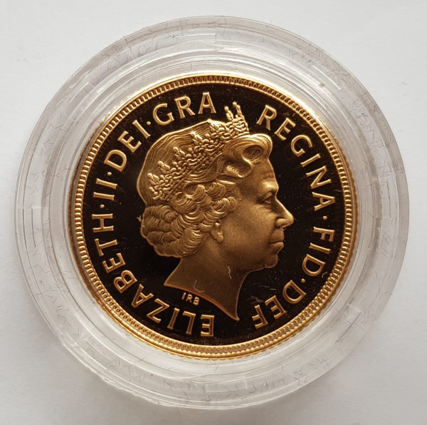 2001 Gold Proof Sovereign 2