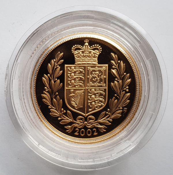 2002 Gold Proof Sovereign 1