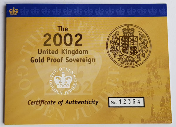 2002 Gold Proof Sovereign 3