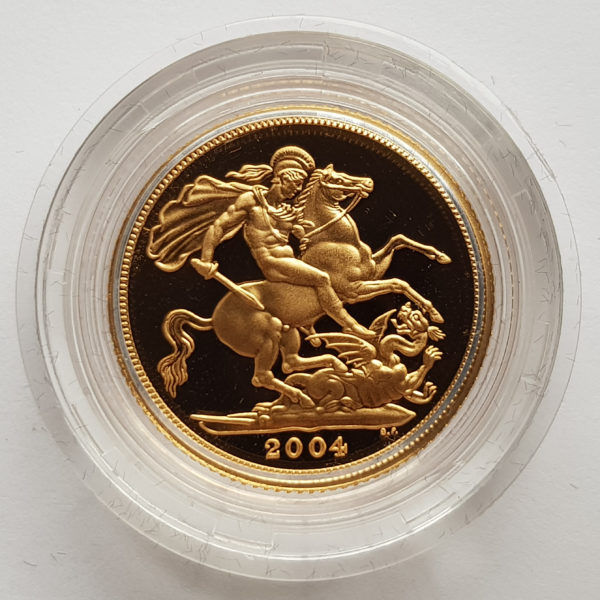 2004 Gold Proof Sovereign 1