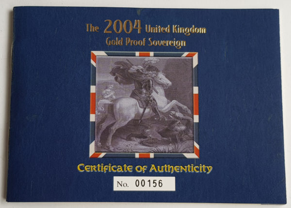 2004 Gold Proof Sovereign 3
