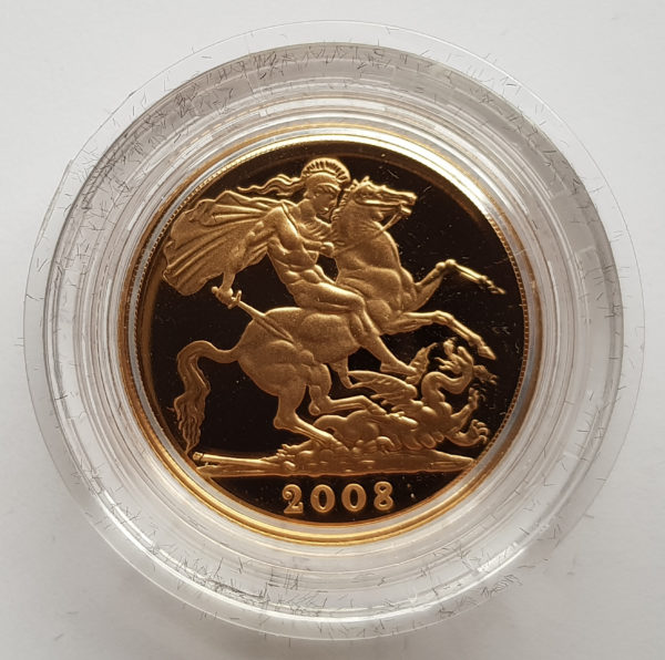 2008 Gold Proof Sovereign 1