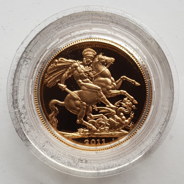 2011 Gold Proof Sovereign 1