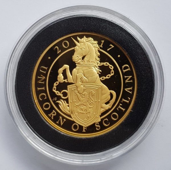2017 Queens Beasts Gold Proof Unicorn 5oz