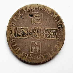 1696 King William Silver Crown