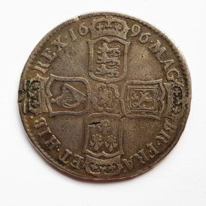 1696 King William Silver Half Crown