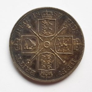 1887 Queen Victoria Silver Crown