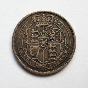 1820 King George III Silver Shilling