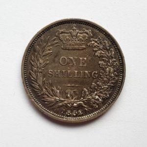 1852 Queen Victoria Silver Shilling