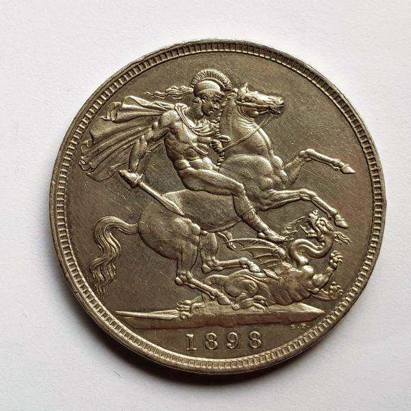 1898 Queen Victoria Silver Crown