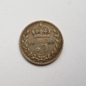1896 Queen Victoria Silver Threepence
