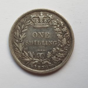 1836 Queen Victoria Silver Shilling