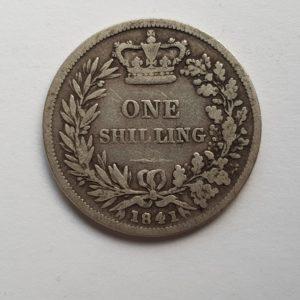 1841 Queen Victoria Silver Shilling