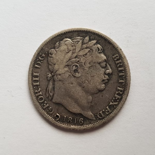 1816 King George III Silver Sixpence