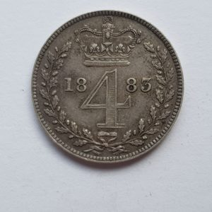 1883 Queen Victoria Silver Fourpence