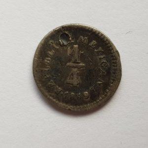 1849 Mexico Silver 1/4