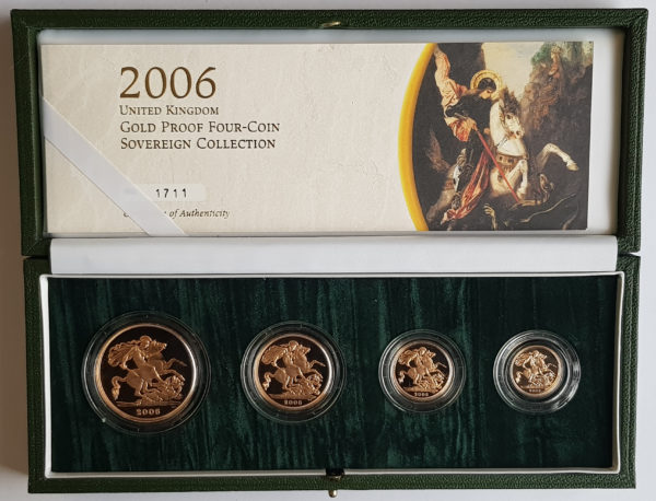 2006 4 Coin Gold Proof Sovereign Set