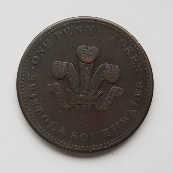 1811 Bristol & South Wales One Penny Token