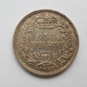 1855 Queen Victoria Silver Shilling