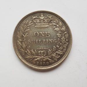 1838 Queen Victoria Silver Shilling
