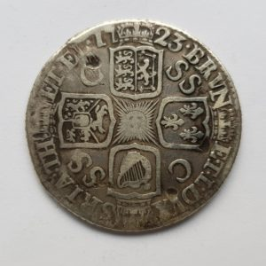 1723 King George Silver Shilling
