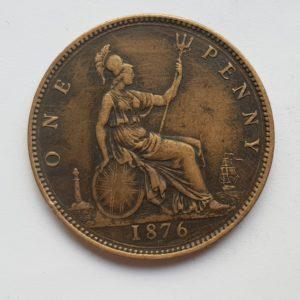 1876 Queen Victoria Penny