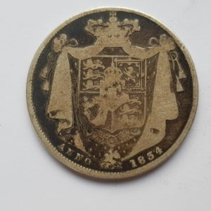 1834 King William IV Silver Half Crown