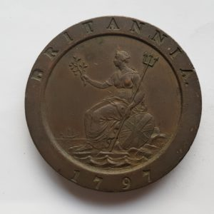 1797 King George Cartwheel Penny