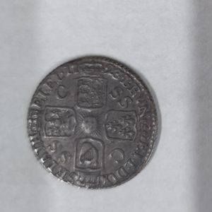 1723 King George Silver SSC Sixpence
