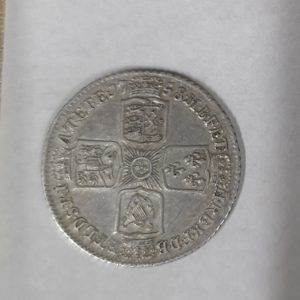 1758 King George II Silver Sixpence