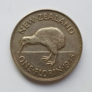 1945 New Zealand Florin
