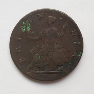 1754 King George Half Penny