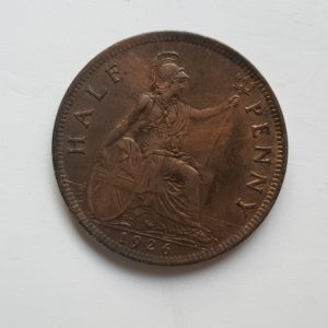 1938 King George V Half Penny