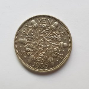 1935 King George V Sixpence
