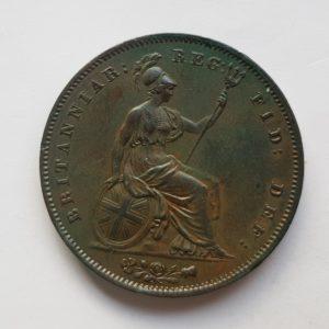 1853 Queen Victoria Penny