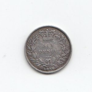1834 Queen Victoria Silver Six Pence