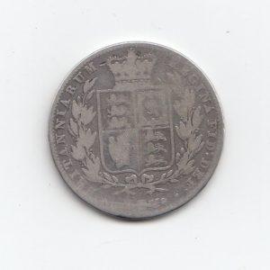 1844 Queen Victoria Silver Half Crown