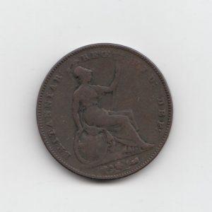 1854 Queen Victoria Penny