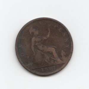1861 Queen Victoria Penny