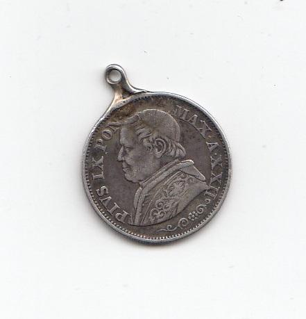 1867 Vatican Silver Ten Soldi
