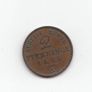 1868 Austria 2 Pfenninge