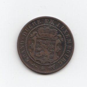 1870 Luxembourg Ten Centimes