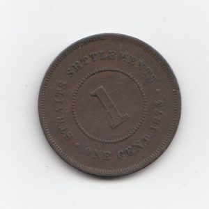 1873 Straits Settlement One Cent